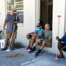 5. 3rd from left-Shaun Powers owner of the Refuge Church overseeing work force